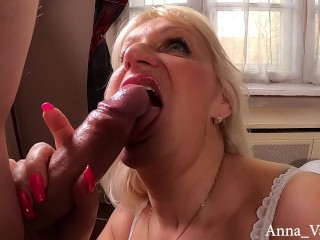 'Anna Valentine horny blonde hungarian mature and a young guy PART 1'