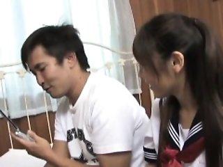 Momo Aizawa rubs dongs between big tits and is fucked big