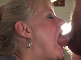Grown up gets throat fucked