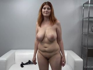 Big-Breasted ginger-haired lush mother At audition