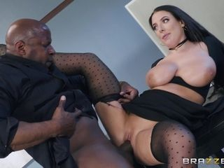 Brunette MILF Angela White in hardcore interracial action