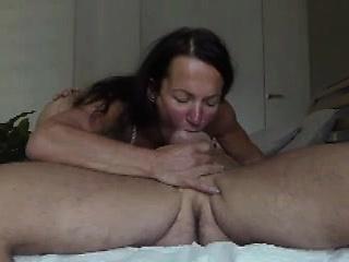Mature deep throats cock and balls