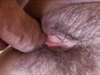 HAIRY AND SEDUCTIVE PUSSY WITH SOFT LIPS DRENCHED WITH SPERM