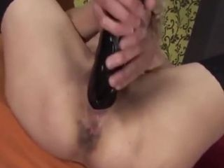 Grannie milks then gets Fisted by a steaming dark-haired