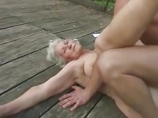 granny rubbed down and fucked