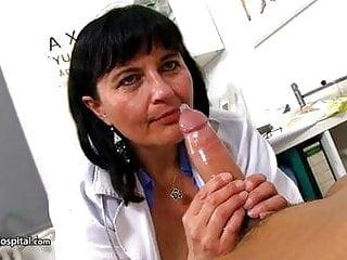 cum extracted by mature nurse Dagmar