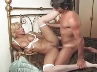 mature granny sucking young stud and fucking him
