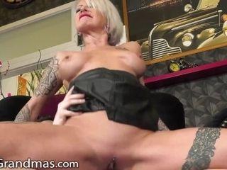 'Kinky Mature Blonde Dominates Lucky Stud's Dick!'