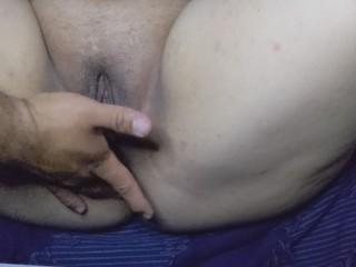 Husband gives me a massage after work