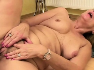 Granny with extremely hairy cunt