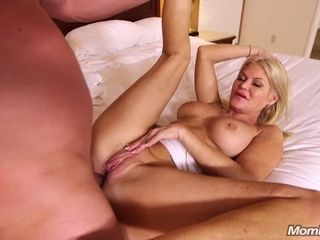 Blond mature Evelyn pulls backside cheeks apart for backside fucking and gets popshot. Point of view