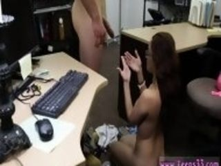 Big tits step mother College Student Banged in my pawn shop!