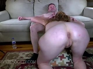 Slutty Blonde Mature Is Getting Fucked On The Couch, While Her Husband Is Out Of Town