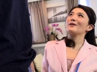 Salacious mature japanese girlie banging