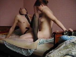 wife dry pegging crossdresser husband
