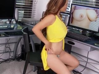 Asian mama busts her titties out and masturbates