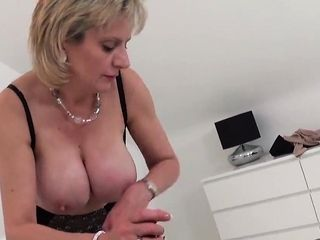 Hotwife brit mature gill ellis flashes her immense t74gCY