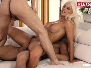LETSDOEIT - chesty mother Blanche Bradburry DP'ed By Her Step-Son And His bestie