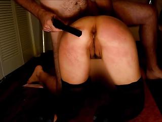 Slave  Wife Takes 50 Belt Strokes