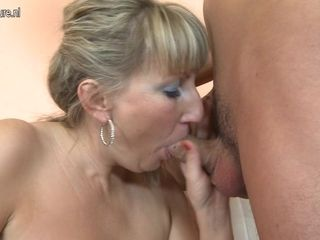 Big Breasted Housewife Sucking And Fucking Her Ass Off - MatureNL