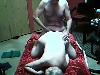 Hairy mature hostage role play