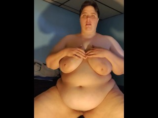 Fucking myself and talking and moaning