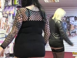 OldNanny Horny Lacey Starr visiting a sex shop with his girlfriend
