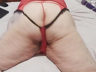 as in red panties