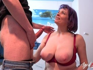 AgedLovE trunk gargling and titty have fun in firm hook-up movie