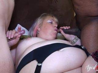AgedLovE Busty Matures Enjoying Hard Group Sex